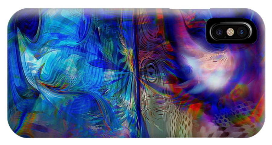 Abstract IPhone Case featuring the digital art Limelight by Linda Sannuti