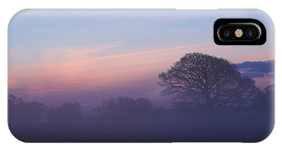 Limerick IPhone X Case featuring the photograph Limerick Foggy Sunrise Ireland by Pierre Leclerc Photography