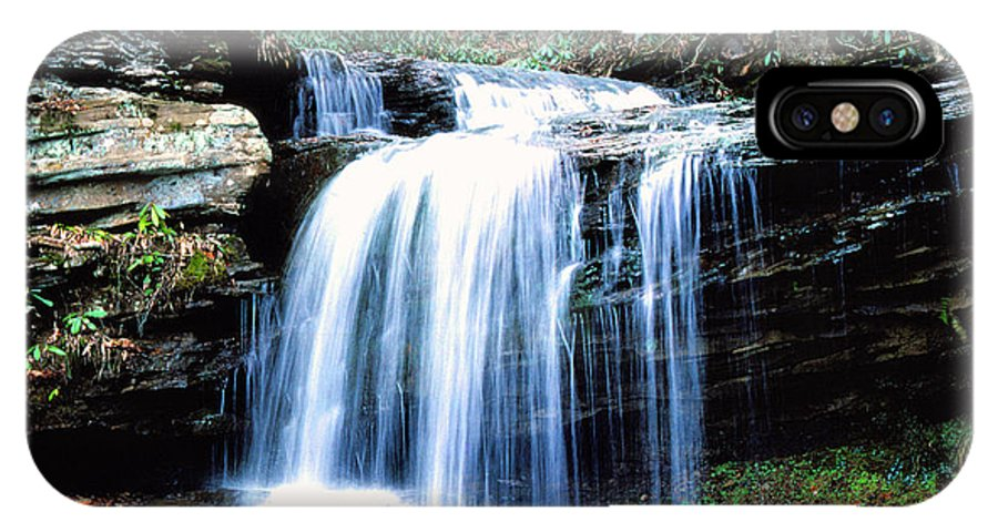 West Virginia IPhone X Case featuring the photograph Lin Camp Branch Waterfall 1983 by Thomas R Fletcher