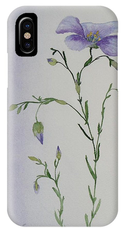 Flower IPhone Case featuring the painting Linacea by Ruth Kamenev