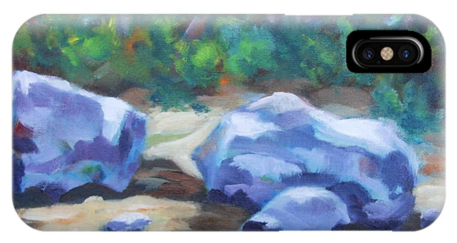 Expressionist Landscape IPhone X Case featuring the painting Lindenlure by Jan Bennicoff
