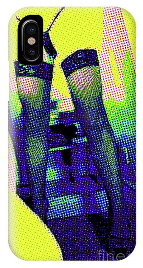 Burlesque IPhone X Case featuring the digital art Lingerie Tease Pop Art by Mary Bassett