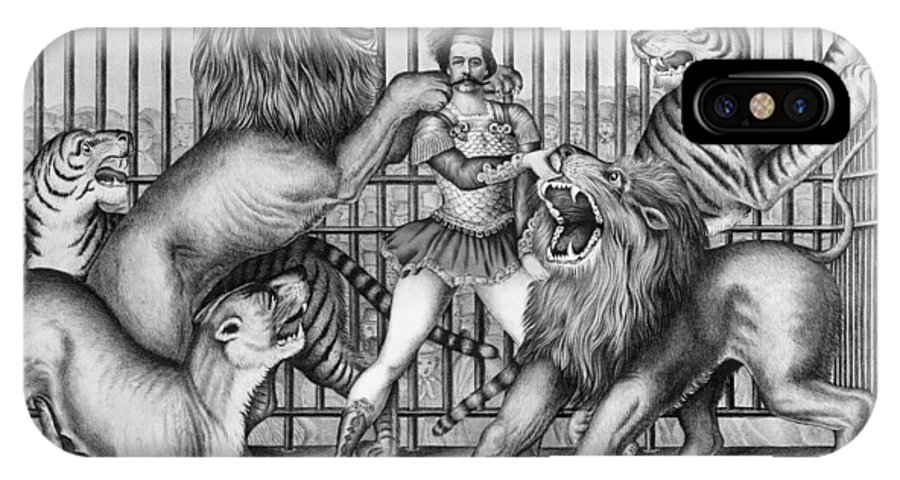 1873 IPhone X Case featuring the photograph Lion Tamer, 1873 by Granger