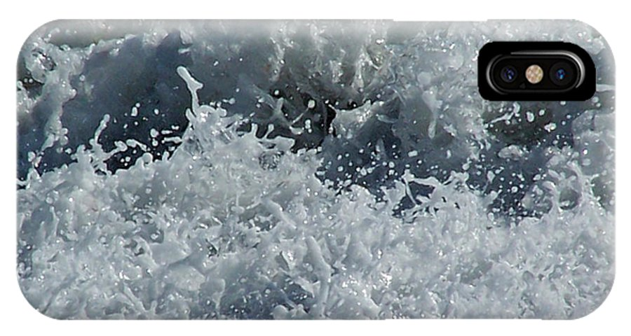 Ocean IPhone X Case featuring the photograph Liquid Fingerprints by Brian Commerford