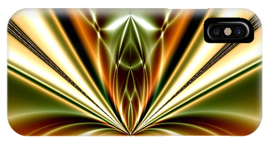 Liquid Reaction Digital Art Fractal Abstract Art Painting Photo Canvas Print Frame Art William Ballester IPhone X Case featuring the digital art Liquid Reaction by William Ballester