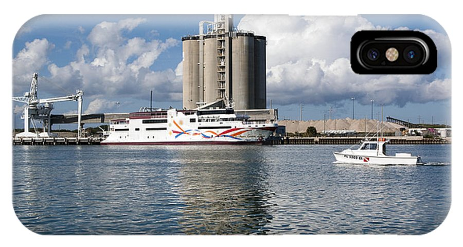 Boat IPhone X Case featuring the photograph Liquid Vegas Gambling Boat by Allan Hughes