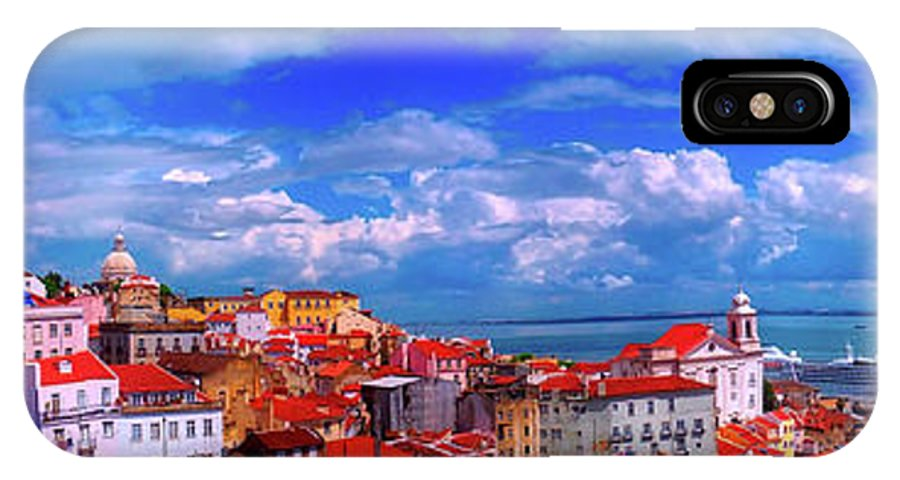 Lisbon IPhone X Case featuring the photograph Lisbon Panorama by Pixabay