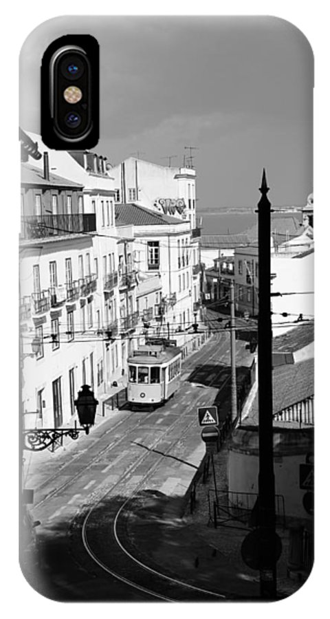 Trolley IPhone X / XS Case featuring the photograph Lisbon Trolley 17b by Andrew Fare