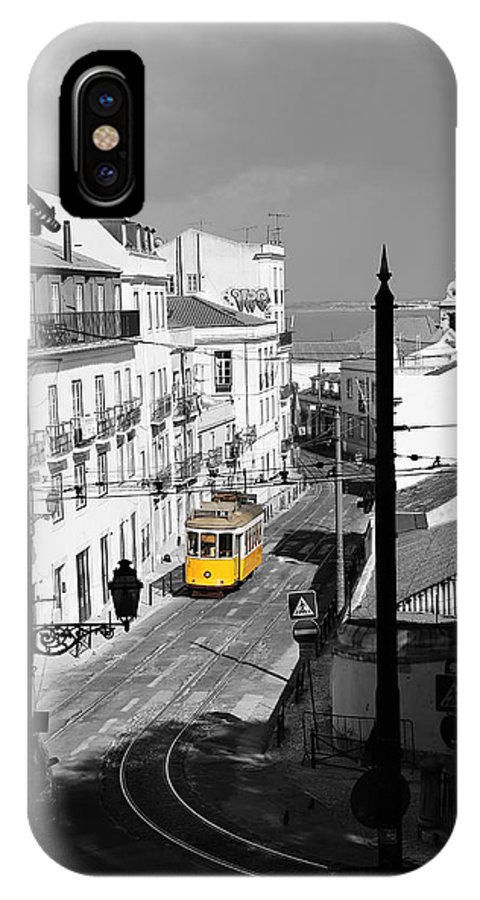 Trolley IPhone X / XS Case featuring the photograph Lisbon Trolley 17c by Andrew Fare