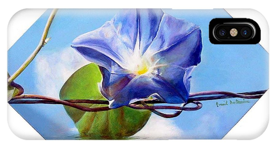 Floral Painting IPhone Case featuring the painting Liseron by Muriel Dolemieux