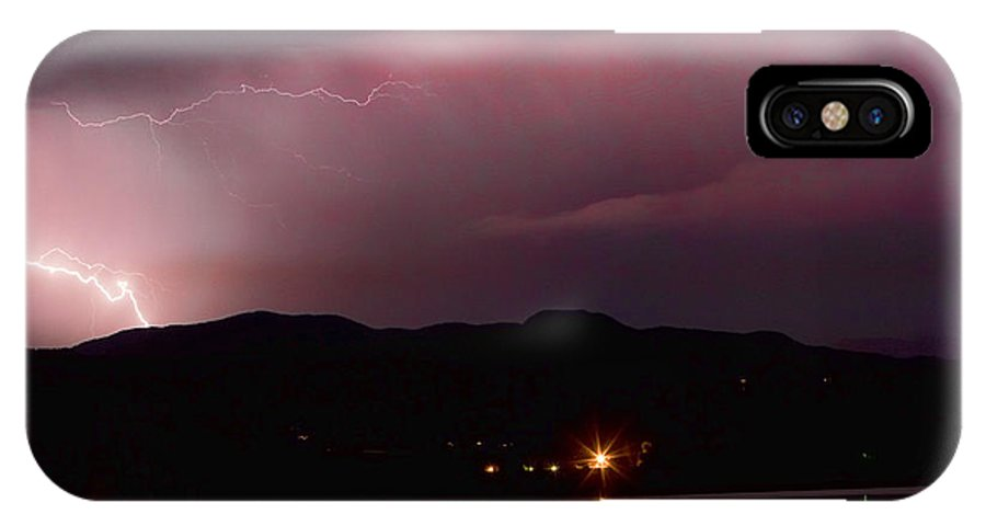 Lightning IPhone X Case featuring the photograph Litghtning In The Air by James BO Insogna