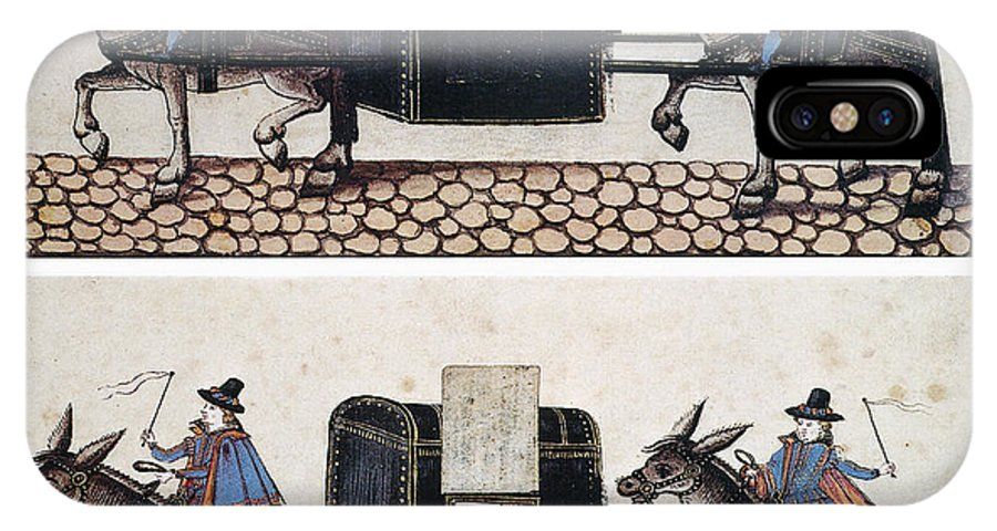 Equestrian IPhone X Case featuring the photograph Litter: Early 17th Century by Granger
