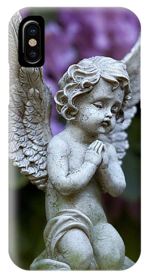 Angel IPhone X / XS Case featuring the photograph Little Angel by Marc Huebner