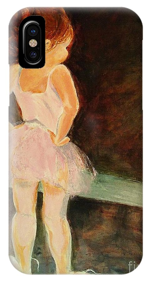 Ballerina IPhone X Case featuring the painting Little Ballerina by Madeleine Holzberg