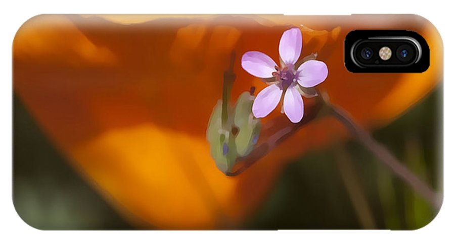 Wildflower IPhone X Case featuring the digital art Little Beauty by Sharon Foster