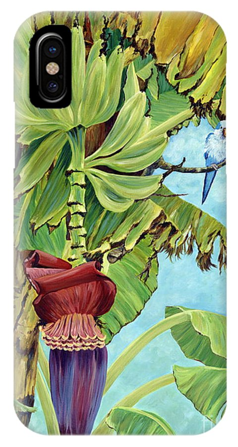 Tropical IPhone Case featuring the painting Little Blue Quaker by Danielle Perry