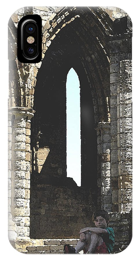Arch IPhone X Case featuring the photograph Little Boy Under The Arch by Susan Baker