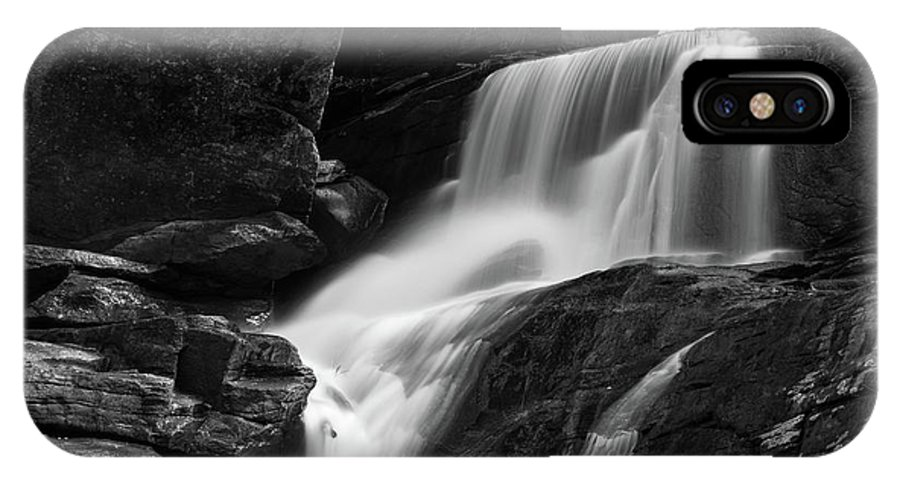 Waterfall IPhone X / XS Case featuring the photograph Little Bradley Falls #3 by Dan Farmer