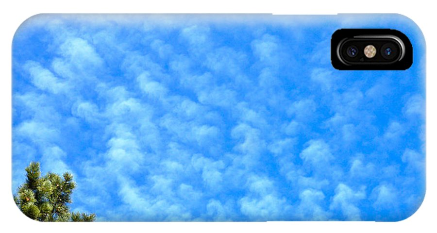 Tree Clouds Sky Colorado Zen Nature Simple Blue Rocky Mountains IPhone X Case featuring the photograph Little Clouds by George Tuffy