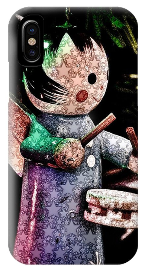 word Art word Abstract abstract Photography christmas Ornaments Christmas IPhone X / XS Case featuring the photograph Little Drummer Girl by Bill Owen