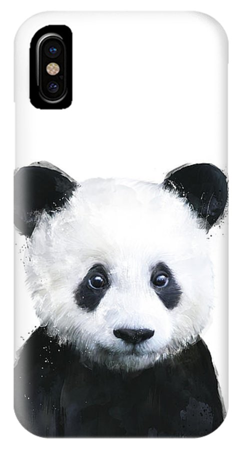 Panda IPhone X Case featuring the painting Little Panda by Amy Hamilton
