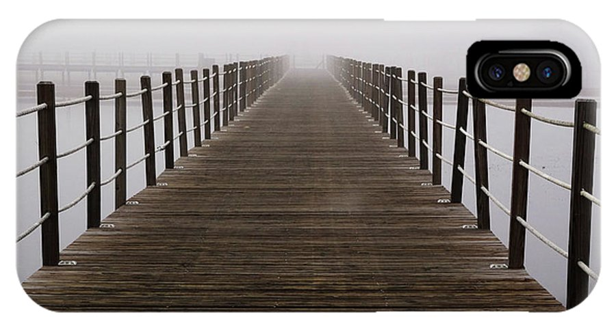 Pier IPhone X Case featuring the photograph Little Pieces of the Nothing that Fall by Dana DiPasquale