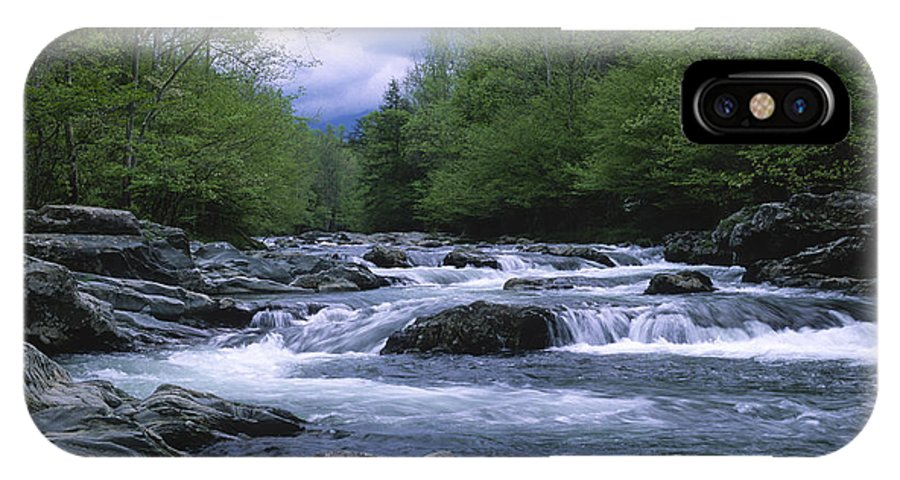 Great Smoky Mountains IPhone X Case featuring the photograph Little Pigeon River by Sandra Bronstein