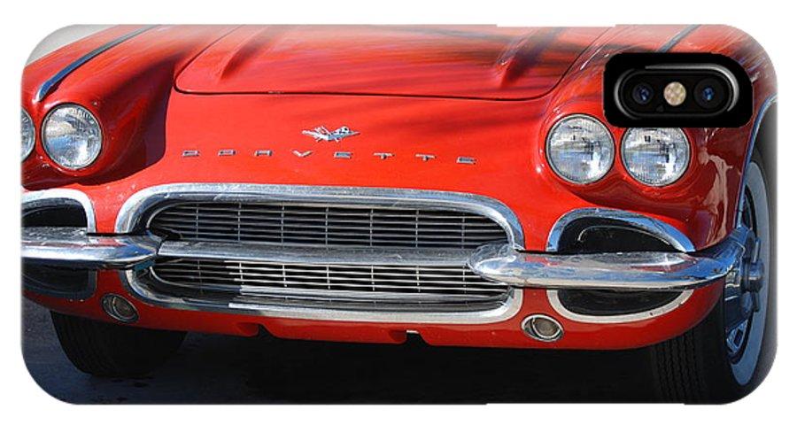 Corvette IPhone Case featuring the photograph Little Red Corvette by Rob Hans