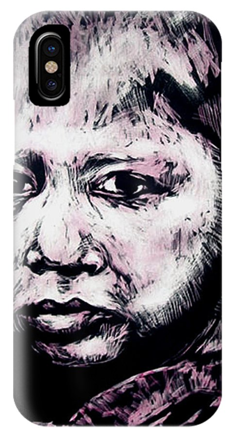 IPhone X Case featuring the mixed media Little Rosita by Chester Elmore