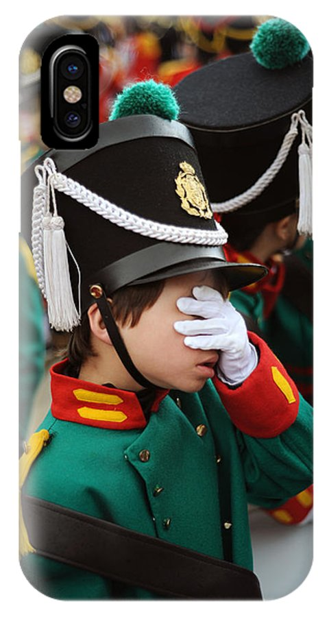 Spain IPhone X Case featuring the photograph Little Soldier I by Rafa Rivas
