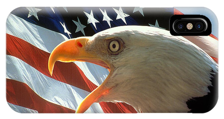 Eagle IPhone X Case featuring the photograph Live Free Or Die by Carl Purcell