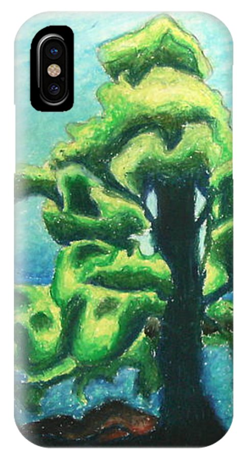 Tree IPhone X Case featuring the pastel Living By The Water by Ashley Warbritton