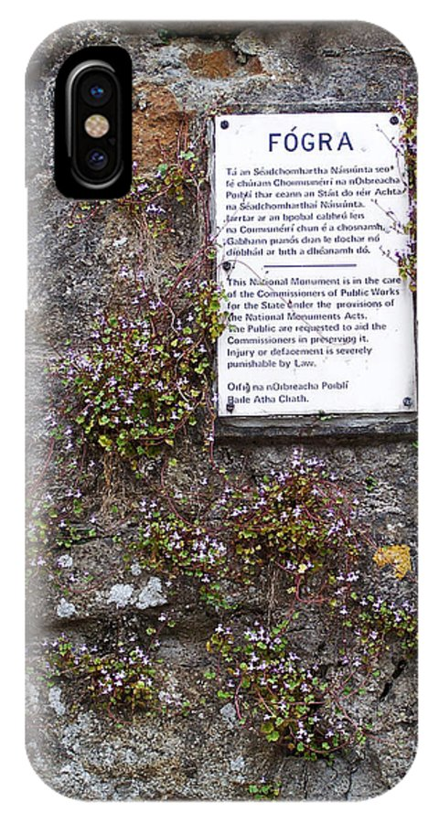 Irish IPhone X Case featuring the photograph Living Wall At Donegal Castle Ireland by Teresa Mucha