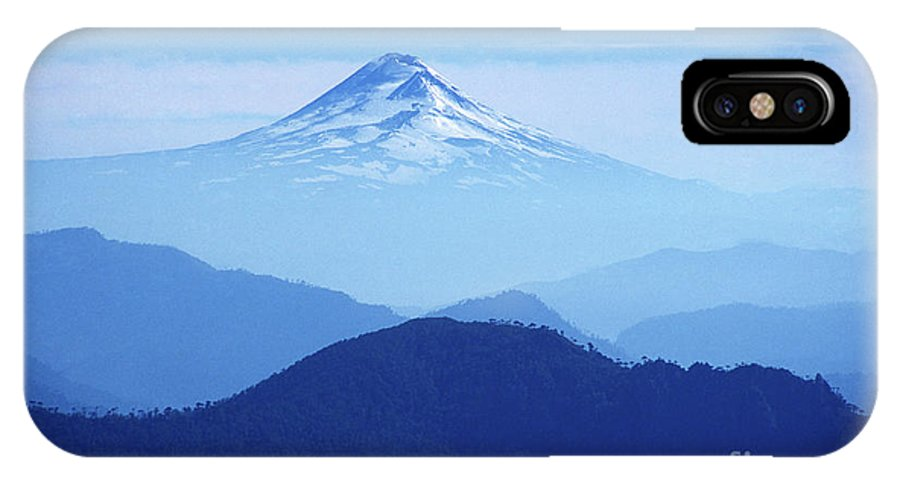 Chile IPhone X Case featuring the photograph Llaima Volcano Chile by James Brunker