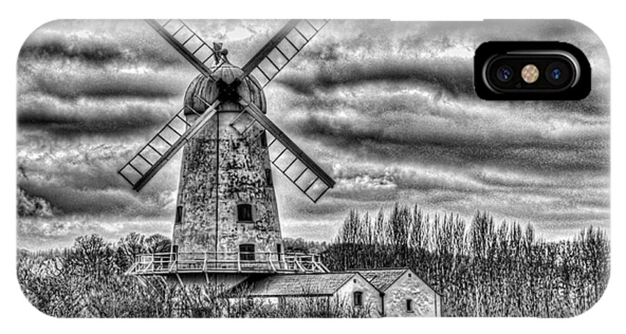 Llancayo Mill IPhone X Case featuring the photograph Llancayo Mill Usk 3 Mono by Steve Purnell