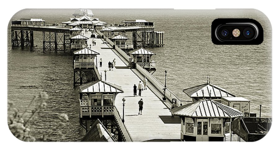 Pier IPhone X Case featuring the photograph Llandudno Pier North Wales Uk by Mal Bray