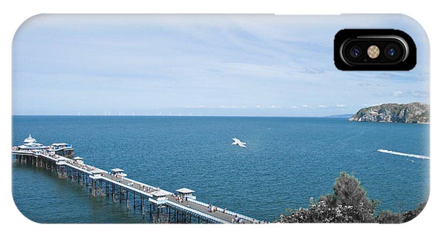 Aqua IPhone X Case featuring the photograph Llandudno Pier by Svetlana Sewell
