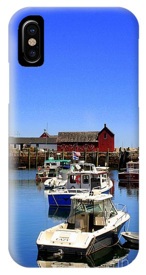 Rockport IPhone X / XS Case featuring the photograph Lobster Boats by John Kenealy