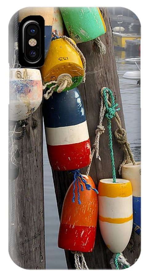 Lobster IPhone Case featuring the photograph Lobster Buoy At Water Taxi Pier by Faith Harron Boudreau