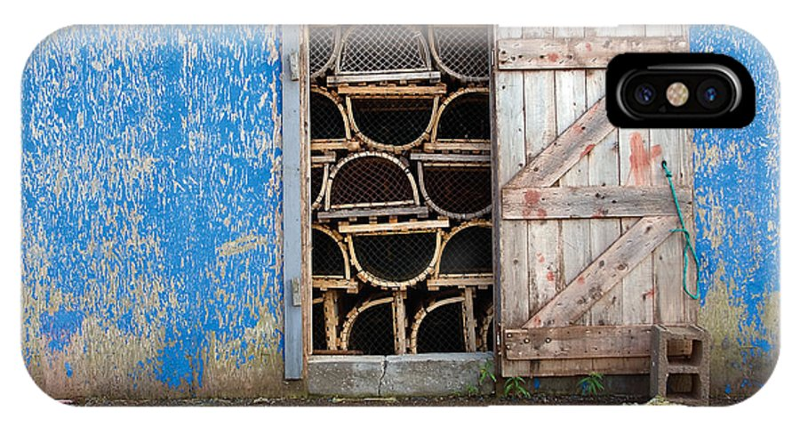 Lobster Trap IPhone Case featuring the photograph Lobster Trap Storage-1 by Steve Somerville