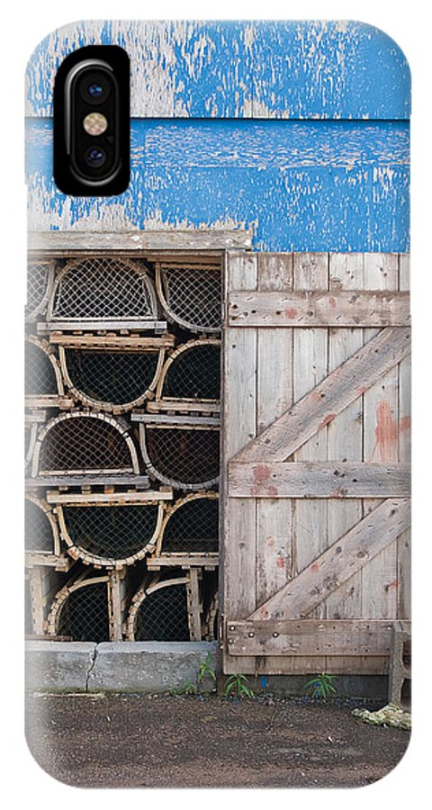 Lobster IPhone X Case featuring the photograph Lobster Trap Storage-3 by Steve Somerville