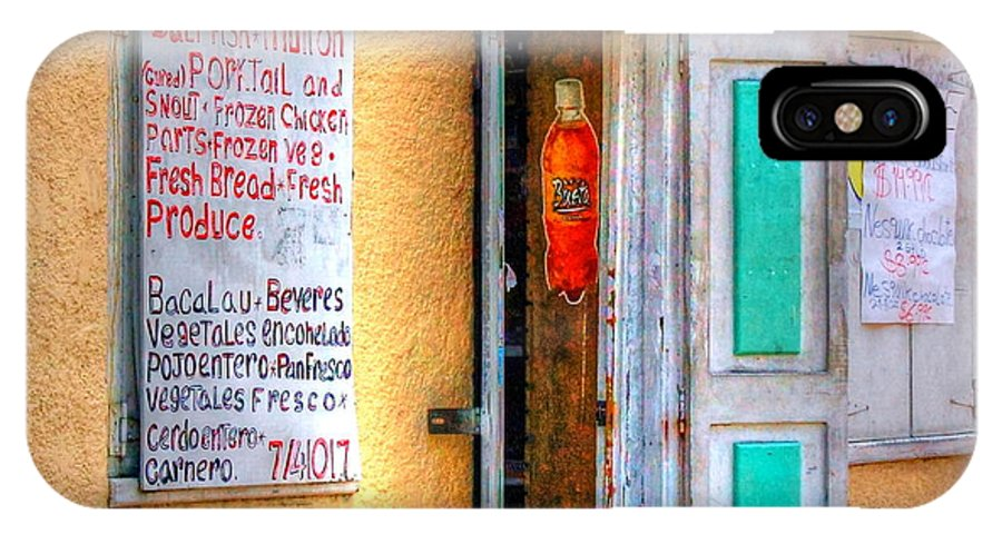 Store IPhone X Case featuring the photograph Local Store by Debbi Granruth