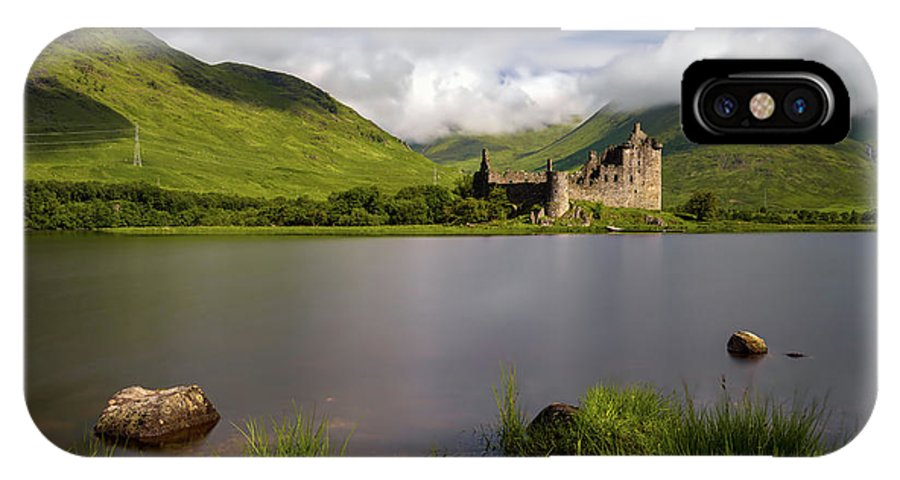Scotland IPhone X Case featuring the photograph Loch Awe Stones by Swen Stroop