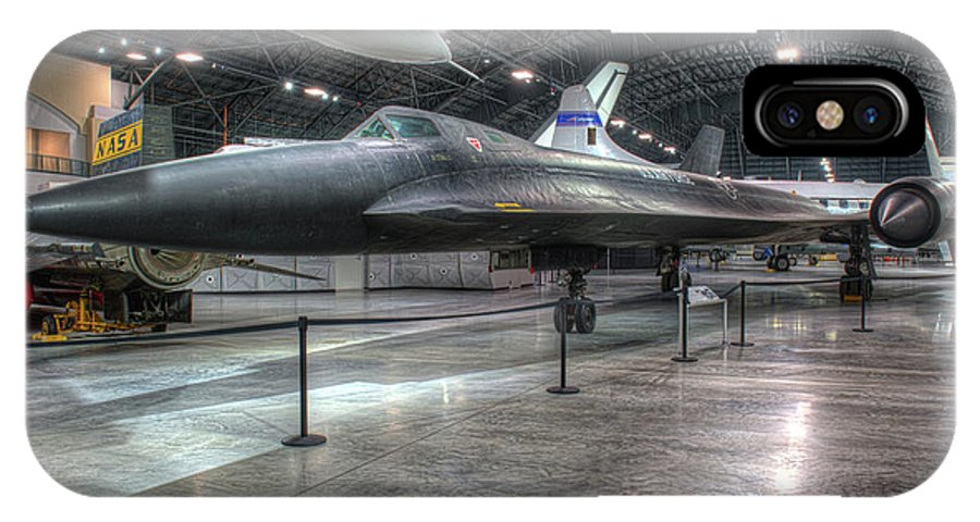 Dayton IPhone X Case featuring the photograph Lockheed Yf-12a by Greg Hager