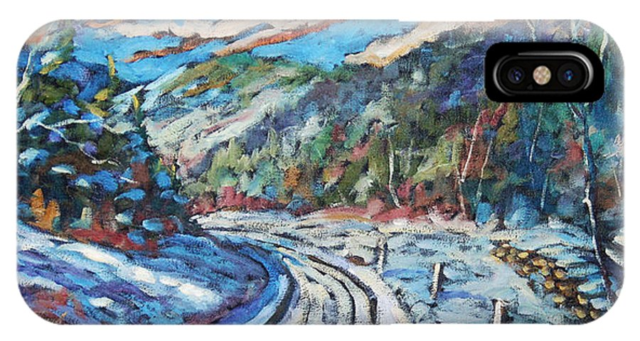 Loggers IPhone X Case featuring the painting Loggers Road by Richard T Pranke