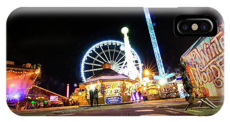 Street Artist IPhone X Case featuring the photograph London Christmas Markets 21 by Alex Art and Photo