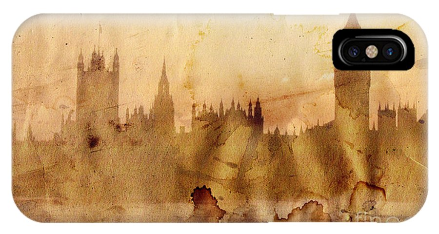 London IPhone X Case featuring the painting London by Michal Boubin