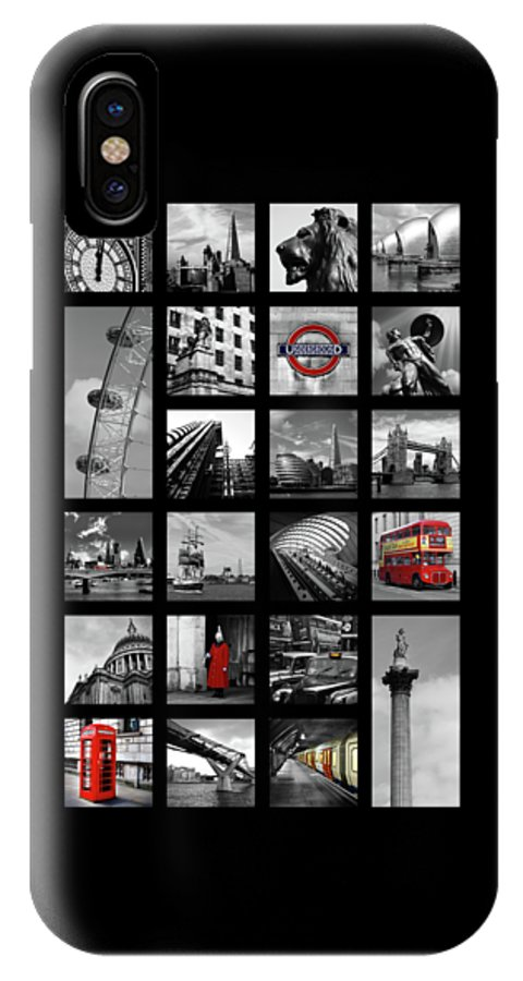 Tower Bridge IPhone X Case featuring the photograph London Squares by Mark Rogan