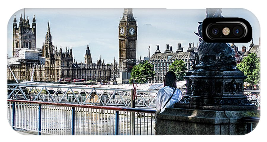London Stranger Big Ben IPhone X Case featuring the photograph London Stranger by Ed The Frog Photography