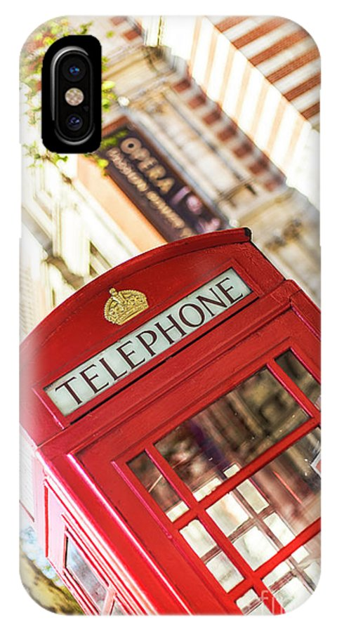 Big Ben IPhone X Case featuring the photograph London Telephone 3 by Alex Art and Photo